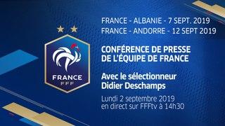La conférence de presse de Didier Deschamps en direct (14h30)