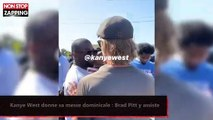 Kanye West donne sa messe dominicale : Brad Pitt y assiste (vidéo)