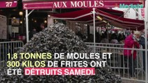 Lille: près de 2 tonnes de moules et 300 kilos de frites détruits pour raisons sanitaires