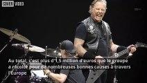 Metallica finit sa tournée européenne par une bonne action