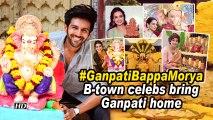 #GanpatiBappaMorya | B-town celebs bring Ganpati home