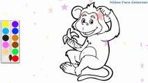 Coloration Singe | Peindre pour les jeunes enfants et dessiner pour les enfants