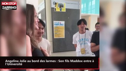 Angelina Jolie au bord des larmes : Son fils Maddox entre à l'Université (vidéo)