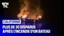 Californie: un bateau prend feu et sombre avec une trentaine de personnes à son bord