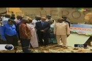 ORTM /Le Ministre de l'administration territoriale et de la décentralisation au chevet des victimes de l'effondrement d'un immeuble