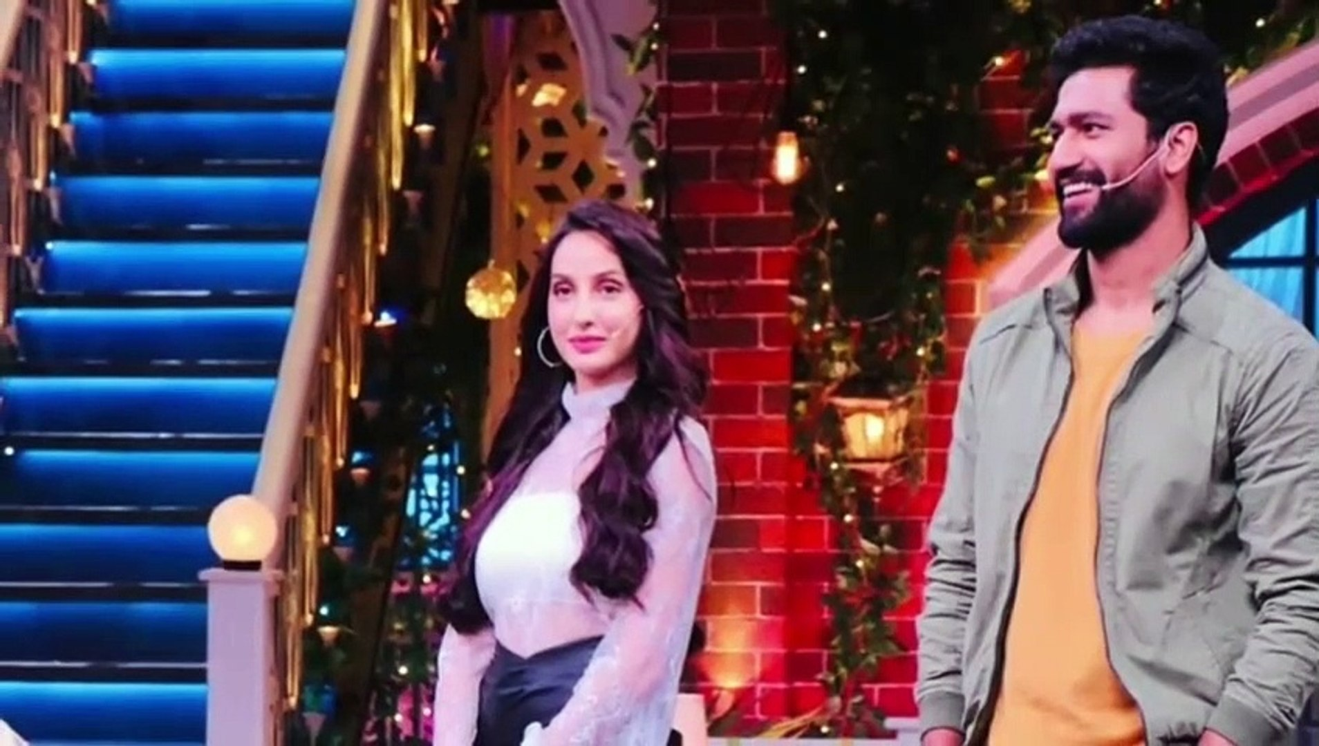 Nora Fatehi and Vicky Kaushal in kapil Sharma show -
