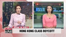 Hong Kong student protesters boycott first day of classes