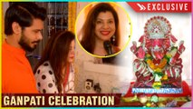 Sambhavna Seth With Husband Avinash CELEBRATE Ganesh Chaturthi At Home | 2019 | EXCLUSIVE INTERVIEW