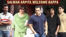 Salman, Helen, Salim Khan, Arbaaz With Girlfriend Arrive At Arpita Khan's Ganpati Cebration 2019