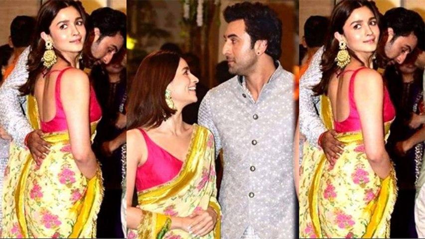 Alia Bhatt & Ranbir Kapoor attend Ganpati Puja at Ambani house together; Watch video | FilmiBeat