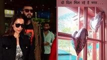 Malaika Arora के लिए रोमांटिक हुए Arjun Kapoor ने शेयर किए दो दिल | FilmiBeat