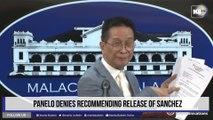 Panelo denies recommending release of Sanchez