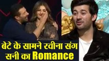 Sunny Deol romances with Raveena Tandon in front of Karan Deol at Nach Baliye 9 | FilmiBeat