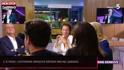 C à Vous : Catherine Deneuve défend Michel Sardou après son coup de gueule (Vidéo)
