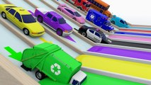 Colors with Street Vehicles - Colors with Paints Trucks - Colors for Children - Monster Truck Colors