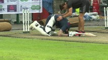 Ben Stokes hit where it hurts in England training