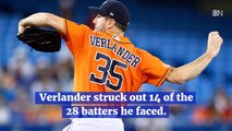 Justin Verlander Celebrates 3rd No Hitter