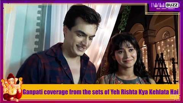 Ganpati celebration with Yeh Rishta Kya Kehlata Hai's Kartik and Naira