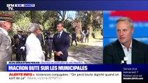 Emmanuel Macron bute sur les municipales