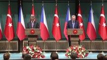 Cumhurbaşkanı Erdoğan : 'Türkiye olarak dostumuz ve müttefikimiz Çekya ile ilişkilerimizi her alanda geliştirme irademiz tamdır' - ANKARA