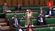 Caroline Lucas scolds Jacob Rees-Mogg for lying down in Commons