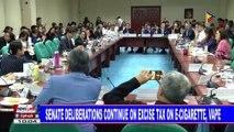 Senate deliberations continue on excise tax on e-cigarette, vape