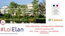 Les volets volet urbanisme, aménagement et bâtiment de la loi ELAN V2
