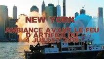 NEW YORK - Ambiance avant le feu dartifice du 4 Juillet 2019 , avec le show des pompiers et policiers
