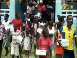 La Première dame de la République Martine Moïse a procédé à la distribution des chaussures d'école