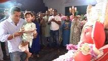 Salman Khan performs Ganpati Bappa's aarti with nephew Ahil Sharma; Watch video | FilmiBeat