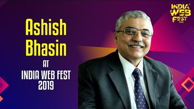 Ashish Bhasin speaks at India Web Fest