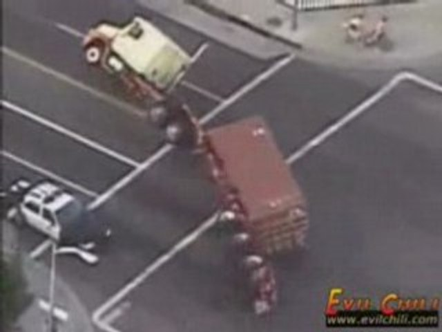 police poursuite camion