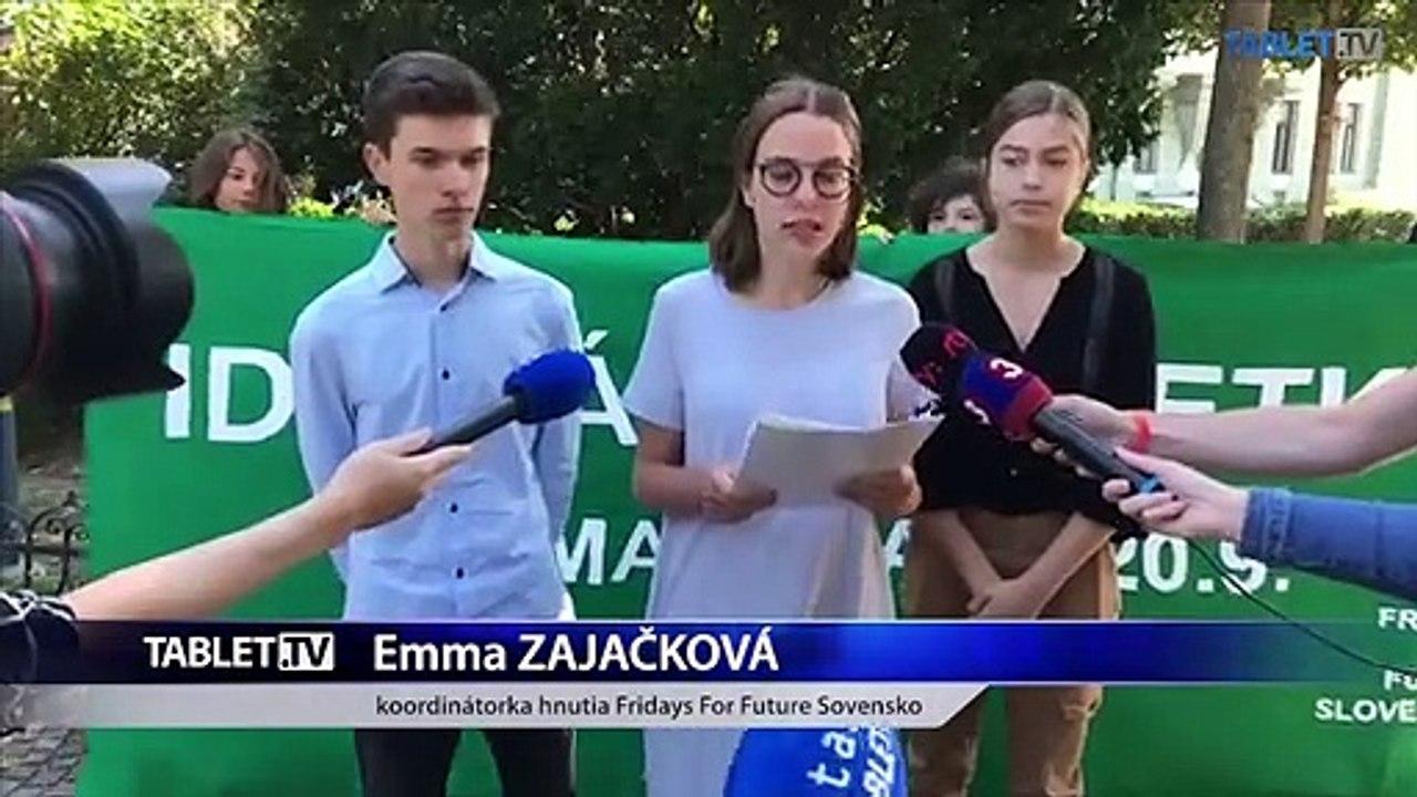 ZÁZNAM: Brífing študentského klimatického hnutia Fridays For Future Slovensko