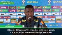 """Vinicius : """"Zidane me dit toujours d'être relax"""""""