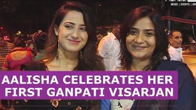Aalisha Panwar celebrates her first Ganpati Visarjan