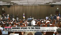 Rival parties agree to hold confirmation hearing for justice minister nominee Cho Kuk on Friday