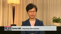 Hong Kong Chief Executive announce withdrawal of extradition bill
