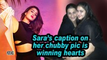 Sara's caption on her chubby pic is winning hearts