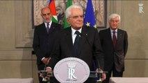 Governo, Mattarella: la parola ora compete a governo e Parlamento
