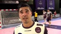 Guillaume Crepain après la défaite d'Istres contre le PSG Handball