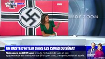 Un buste d'Hitler et un drapeau nazi cachés dans les caves du Sénat