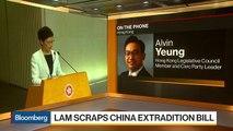 Hong Kong Pro-Democracy Lawmaker Yeung on Lam, Protests