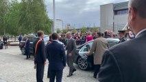 Charleroi: le couple royal arrive au Quai 10