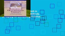 About For Books  Research in Occupational Therapy: Methods of Inquiry for Enhancing Practice