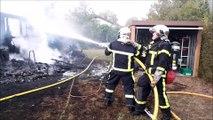 Diane-Capelle : un incendie détruit un chalet de vacances