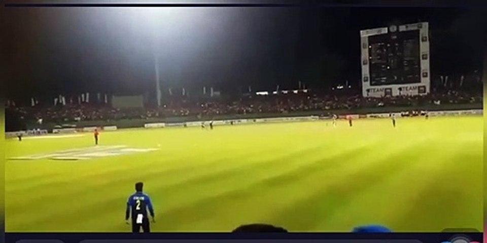 Watch Video : Shehan Jayasuriya & Kusal Mendis collided in Kandy