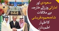 FM Qureshi hopeful Saudi Arabia, UAE won't disappoint Pakistan