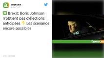 Brexit : La demande d'élections anticipées de Boris Johnson rejetée par le Parlement britannique