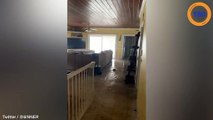 Ouragan Dorian : de l'eau arrive jusqu'au premier étage d'une maison aux Bahamas !