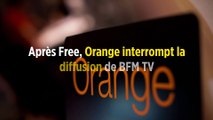 Après Free, Orange interrompt la diffusion de BFM TV